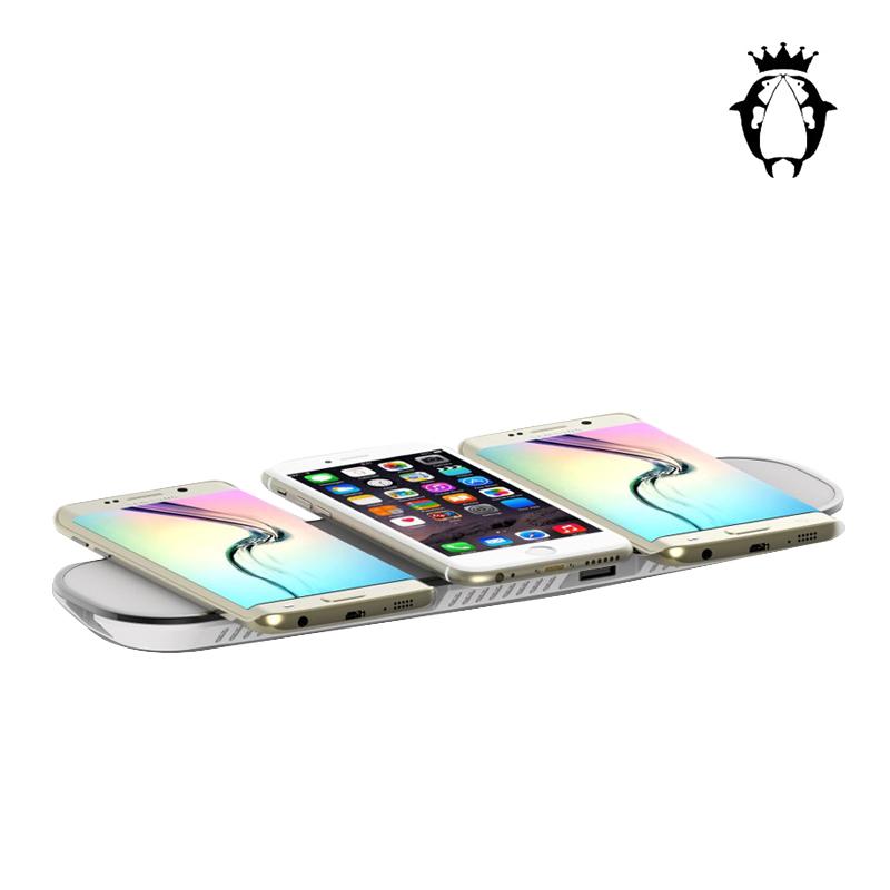 飞豚  一拖三无线充QI方案  IPHONE X    IPHONE8  三星S8  小米NOTE通用  WXC15