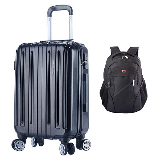 维士十字VICTORIACROSS 旅行套装(20寸拉杆箱872020+15寸电脑背包VC3008-LE6101黑色)