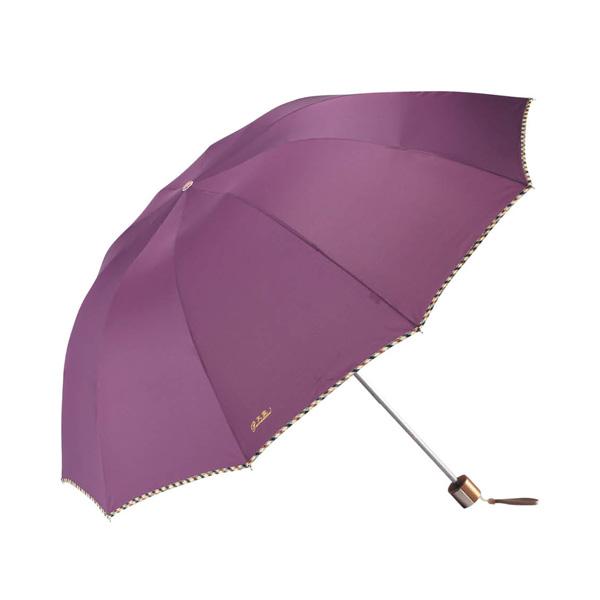 天堂伞3398E超大伞面三折晴雨两用商务伞 颜色随机