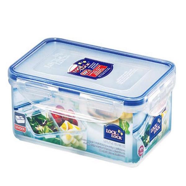 樂扣樂扣(LOCK&LOCK)塑料保鮮盒飯盒HPL817長方形收納盒1L便當盒