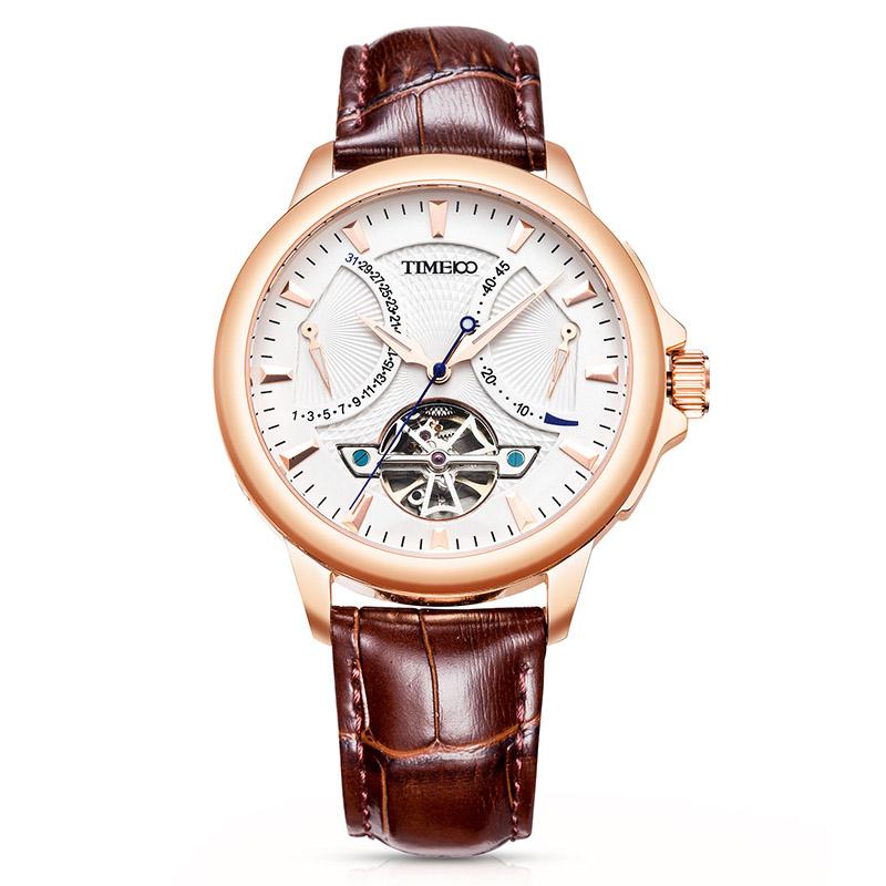 時光一百/Time100手表航海家系列時尚潮流飛輪款高級機械表自動男士腕表手表W70035G