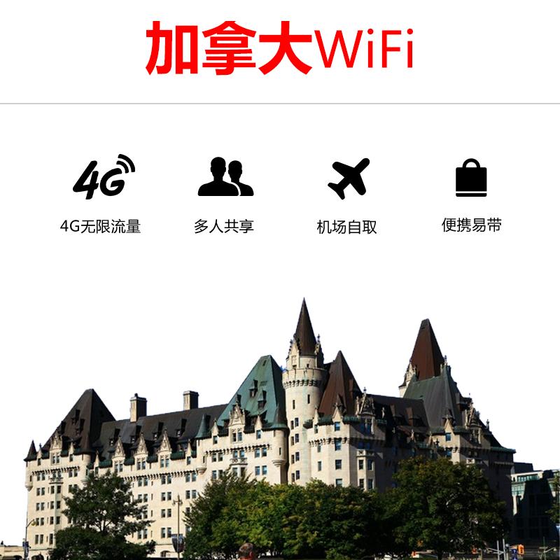 游伴伴 加拿大4G无限流量wifi 单日包