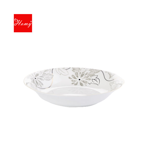 Homy-骨质瓷亚里斯10寸鲍翅盘1件装