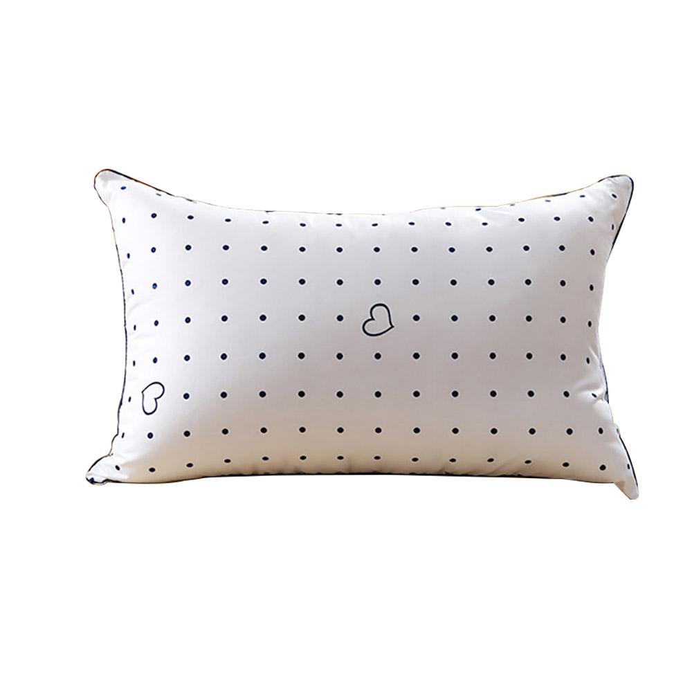 羽曼 養生健康舒適枕頭枕芯單人枕頭 羽絲絨枕 波點枕頭