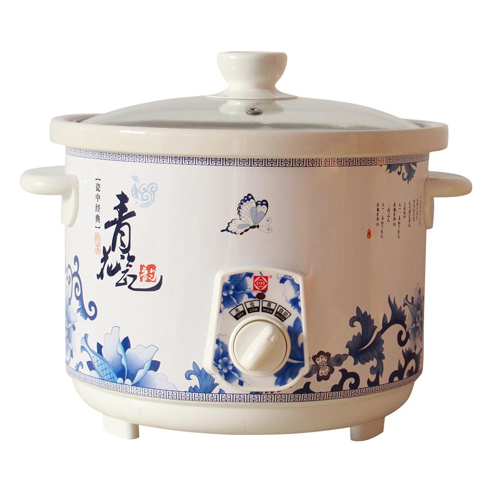 方圆FY 白陶瓷电炖锅青花瓷纹慢炖煲汤锅 2.5L