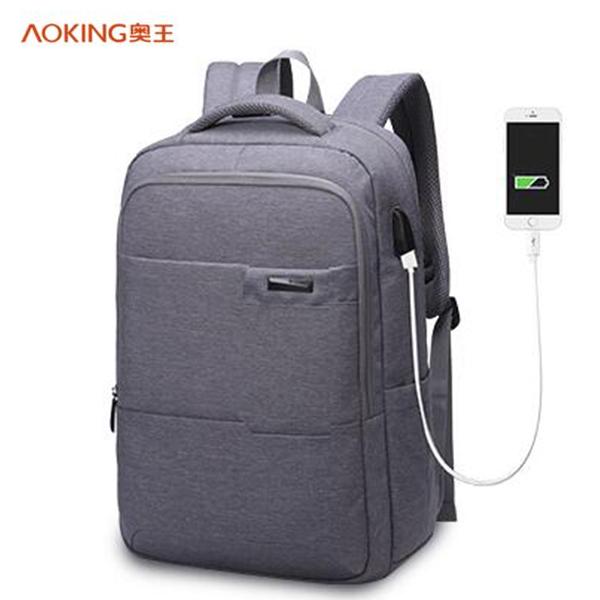 奧王/AOKING 商務休閑雙肩背包帶USB接口 電腦包 AK77178