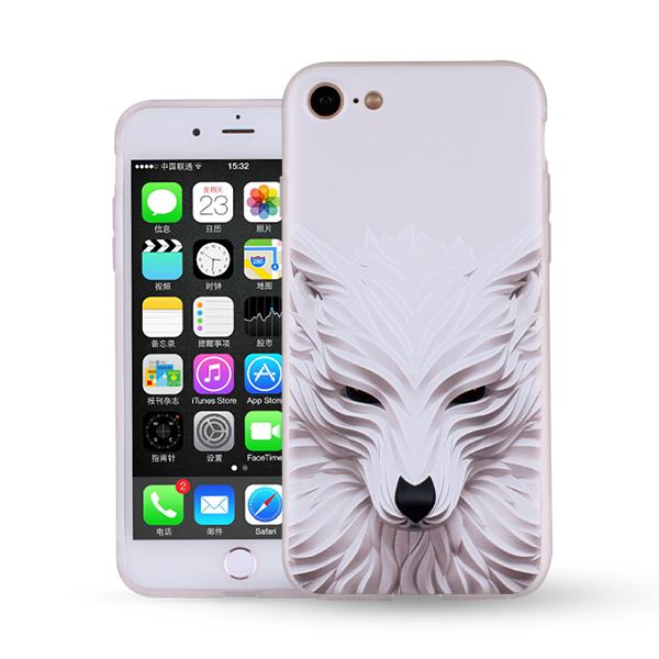 颐电ANODE 苹果7手机壳 全包硅胶防摔卡通彩绘保护套适用于iPhone7Plus手机套