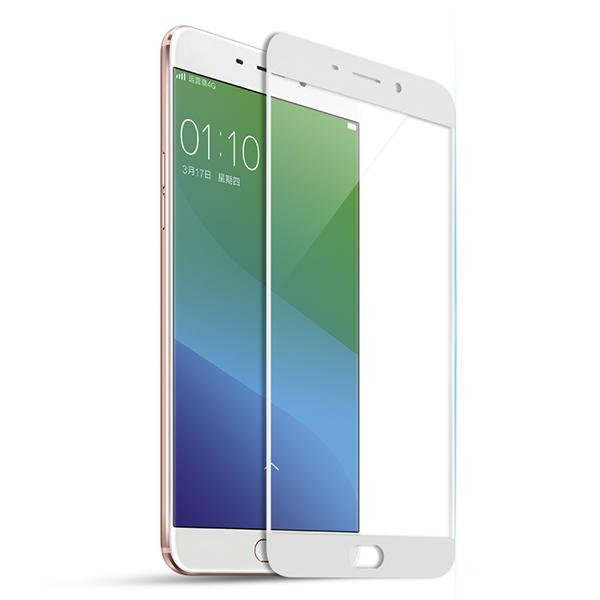 颐电ANODE  OPPO R9钢化膜全屏全覆盖 手机保护贴膜玻璃膜 适用于oppo r9