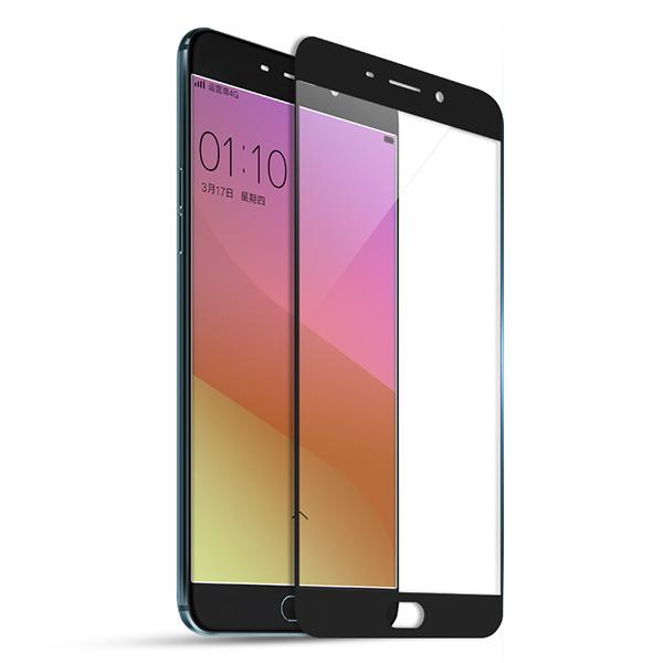 颐电ANODE  OPPO R9 PLUS钢化膜全屏全覆盖 手机保护贴膜玻璃膜 适用于oppo r9 plus