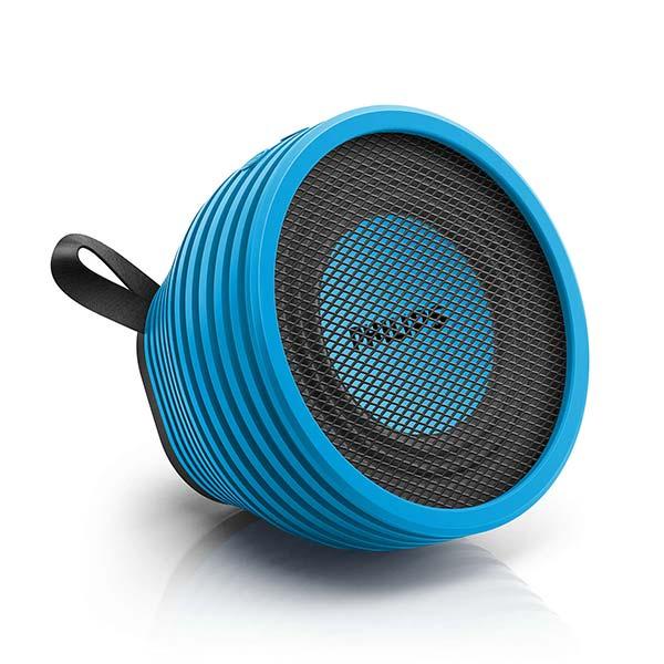 飞利浦(PHILIPS)SB2000A 蓝色 防溅 内置麦克风 无线便携式蓝牙音箱