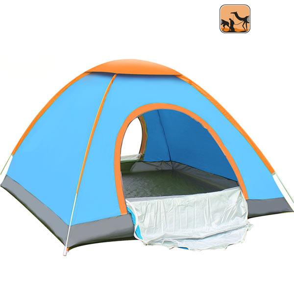 沙漠駱駝061-2 四人手拋自動帳篷 3-4人戶外露營帳篷