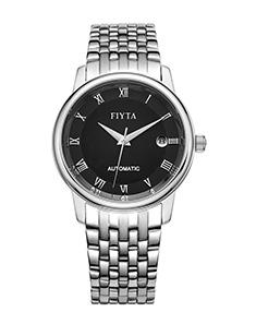 飞亚达(FIYTA)手表 经典系列机?#30340;?#34920;黑盘钢带TGA070.WBW