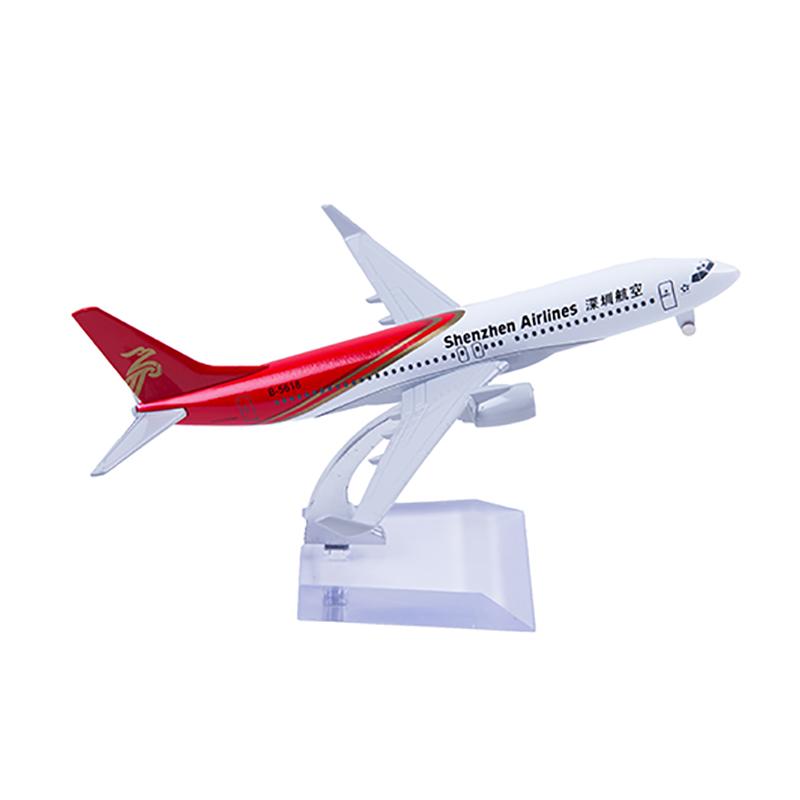 深航定制飛機模型 737-800 16cm