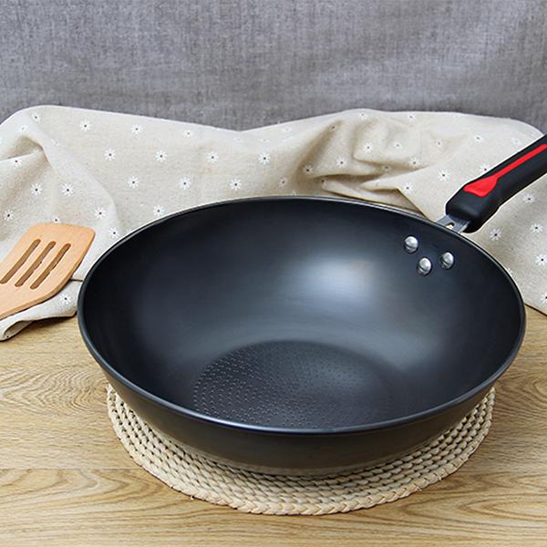 康龙 炒锅无涂层精铁炒锅家居厨房厨具锅具32cm 适用于各种炉具KL-7932F