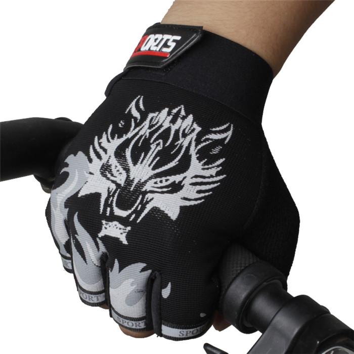 圣苏萨娜透气健身户外运动骑车防滑男士战术半指骑行手套
