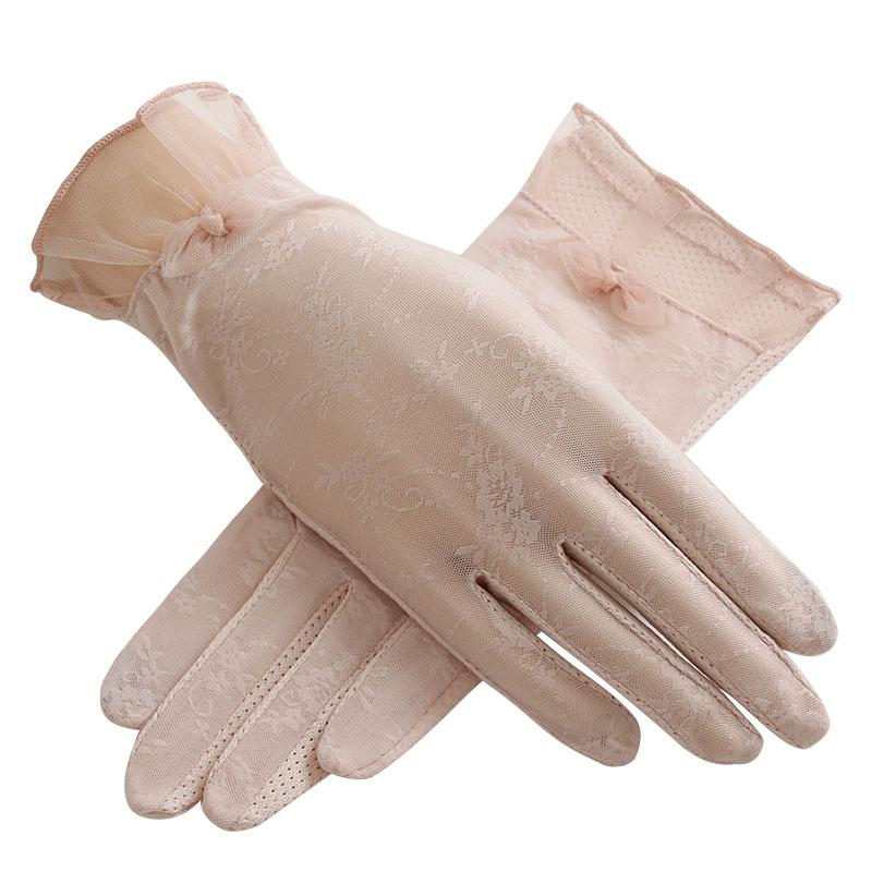 圣苏萨娜夏季薄款透气防滑防晒触屏手套均码