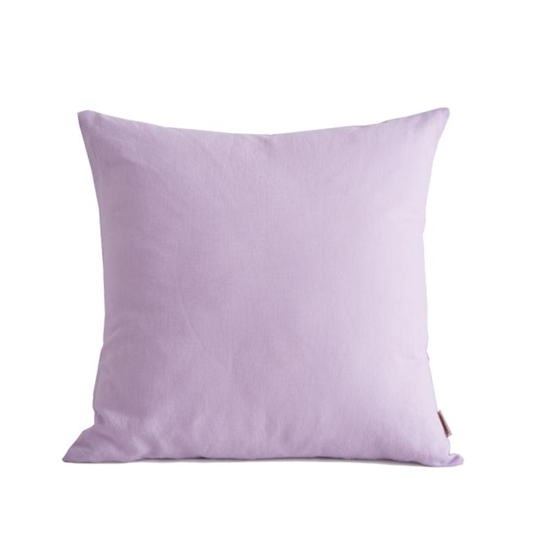 大朴天然麻棉抱枕(含芯)浅紫