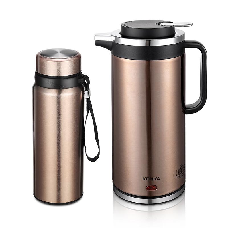 康佳(konka)kgbl-213 水光山色组合 电热水壶 保温杯