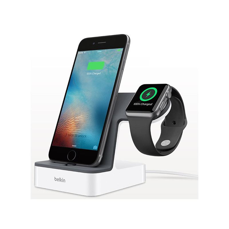 贝尔金Belkin  iPhone 7+Apple Watch 二合一充电支架苹果7 F8J200qeWHT