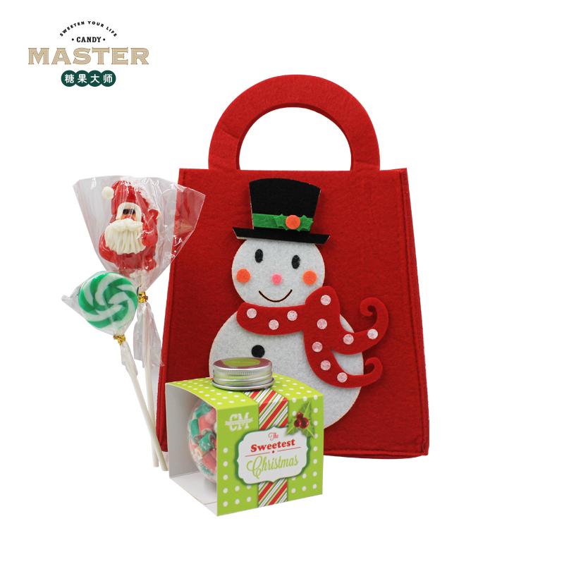 糖果大师candy master澳洲手工糖果圣诞节可爱礼袋礼物棒棒糖儿童雪人