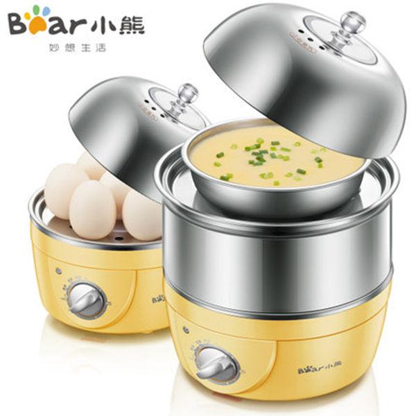 小熊(Bear)雙層定時煮蛋器 不銹鋼蒸蛋器 14個蛋 ZDQ-2153