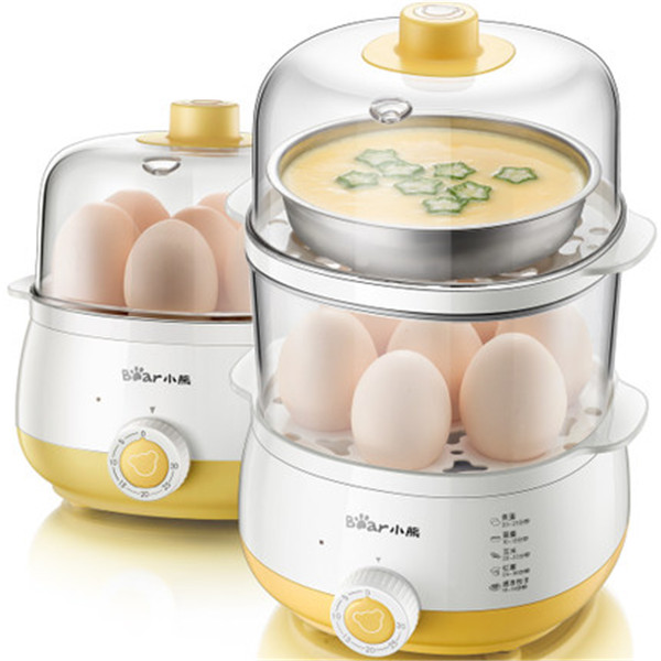 小熊(Bear)煮蛋器 双层家用蒸蛋器 定时早餐机 14个蛋 ZDQ-A14R1