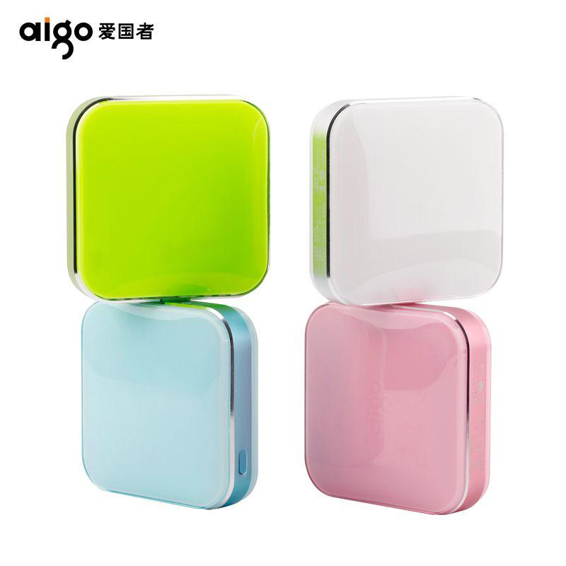 爱国者(aigo)10000毫安 S20000 双USB输出 可爱迷你 便携 移动电源/充电宝