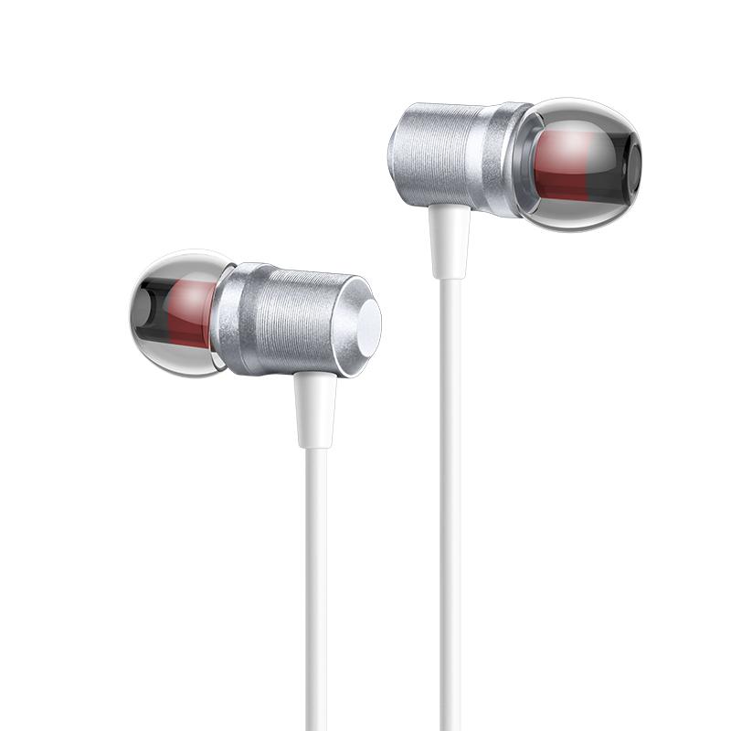 爱国者(aigo) A665立体声入耳式通话耳机 带麦线控 金属仿生蝉膜声腔