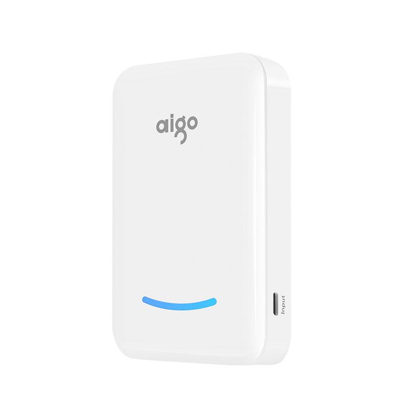爱国者(aigo)移动电源10000毫安D3迷你 通用充电宝 白色