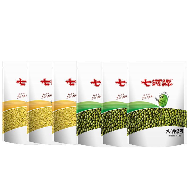 七河源小米绿豆组合100g*6