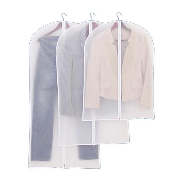 宜戀家紡 防塵袋可水洗加厚衣物防塵罩 透明衣服掛袋大衣西服罩防塵袋衣罩 防塵袋三件套