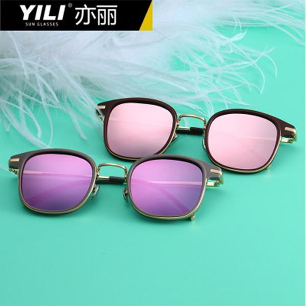 YILI  欧美时尚偏光太阳镜女士经典大框百搭炫彩墨镜眼镜  9954