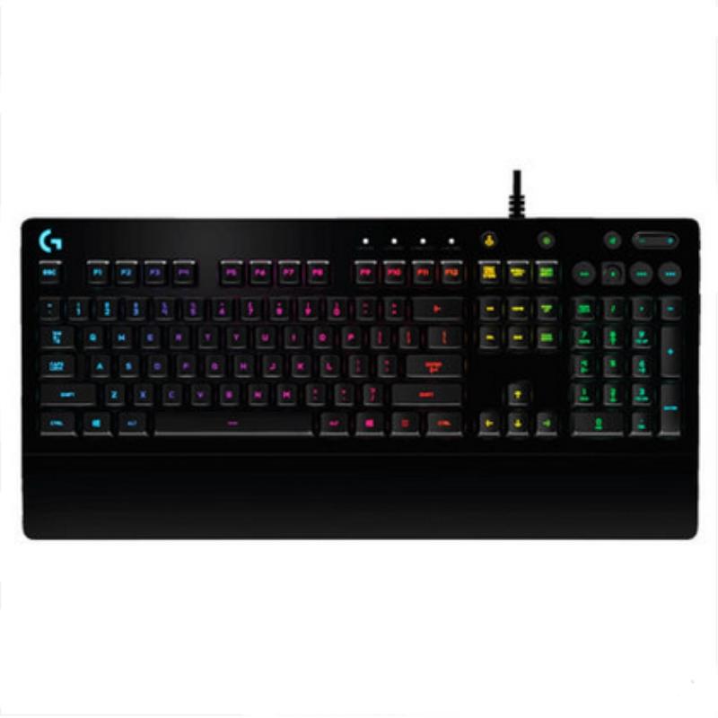 罗技/Logitech G213  集成式掌托 RGB炫光 全尺寸有线游戏键盘