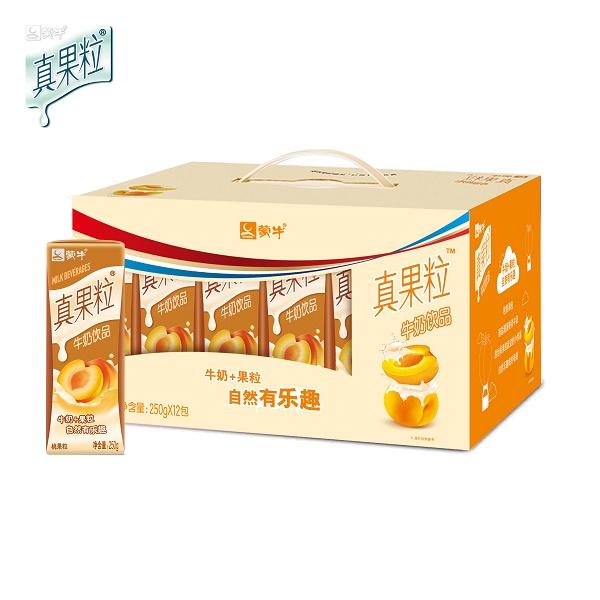蒙牛真果粒桃果粒牛奶飲品250ml*12盒