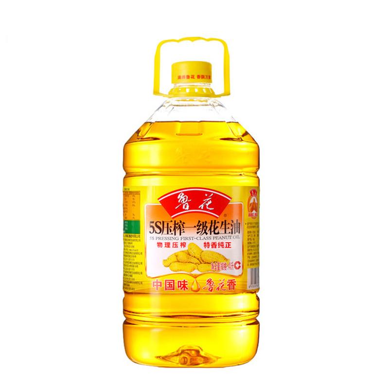 魯花 5S 壓榨一級 花生油 4L