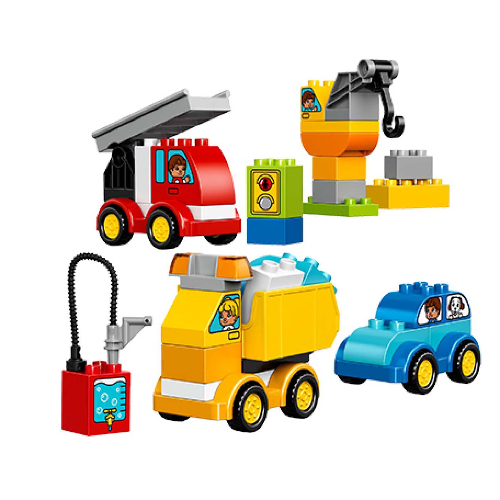 ?#25351;週EGO得宝系列 10816 我的第一组汽车与卡车套装 LEGO 积木玩具