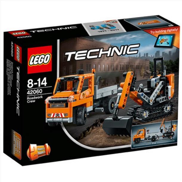 ?#25351;週EGO机械组 42060 修路工程车组合LEGO Technic 积木玩具