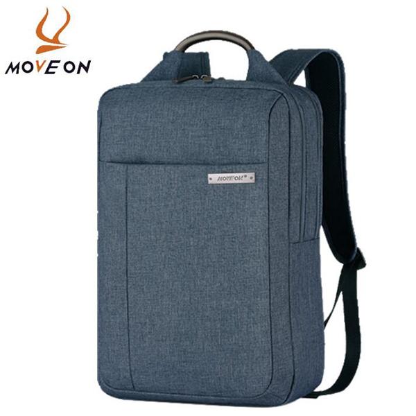 牧風MOVEON 2018新款商務休閑雙肩包電腦包背包 帶拉桿箱背插M-6505