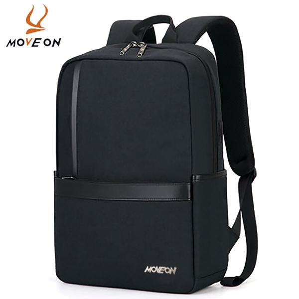 牧風MOVEON 新款商務電腦背包 防潑水男女雙肩包 雙側袋可插拉桿箱背包5698