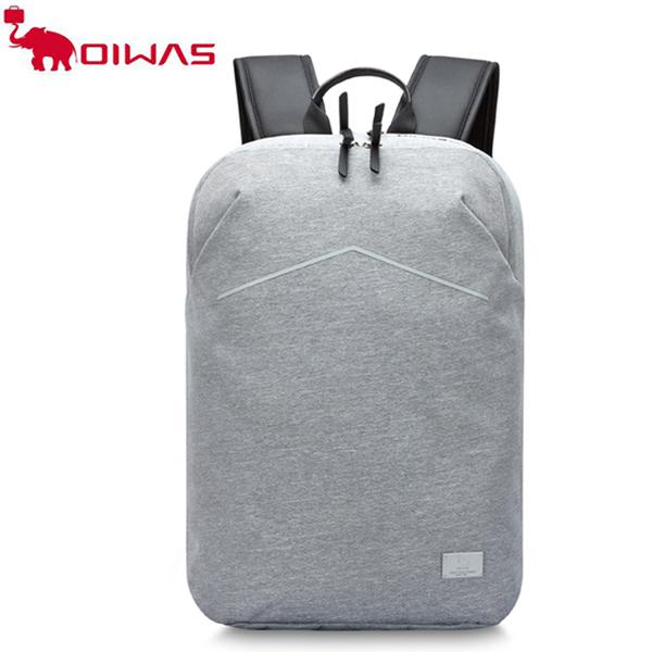 愛華仕(OIWAS) 新款都市青年通勤大容量背包 休閑商務可套拉桿雙肩包輕男女旅行背包 4520G
