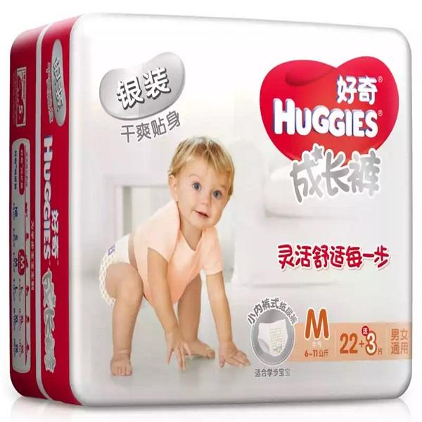 好奇Huggies 銀裝成長褲 夏季超薄透氣 M22+3片 【6-11kg】拉拉褲