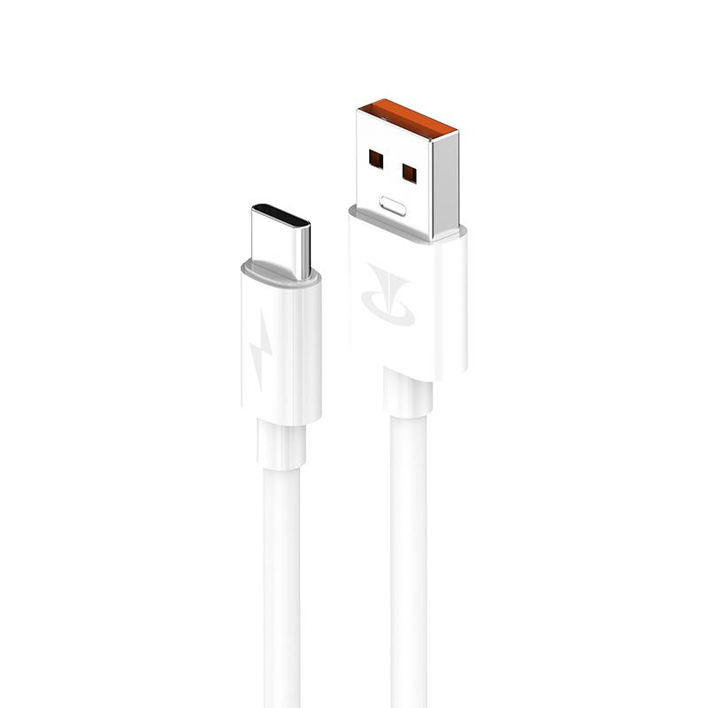 臺電(Teclast) Type-C閃充款數據線/充電線TL-F12C白色 5A高速閃充 線長1.2米