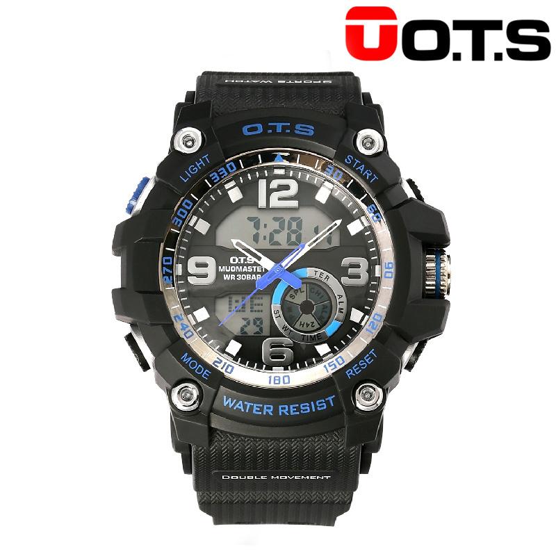 奧迪斯 O.T.S 電子機芯時尚電子手表 (客間藍白)  8077