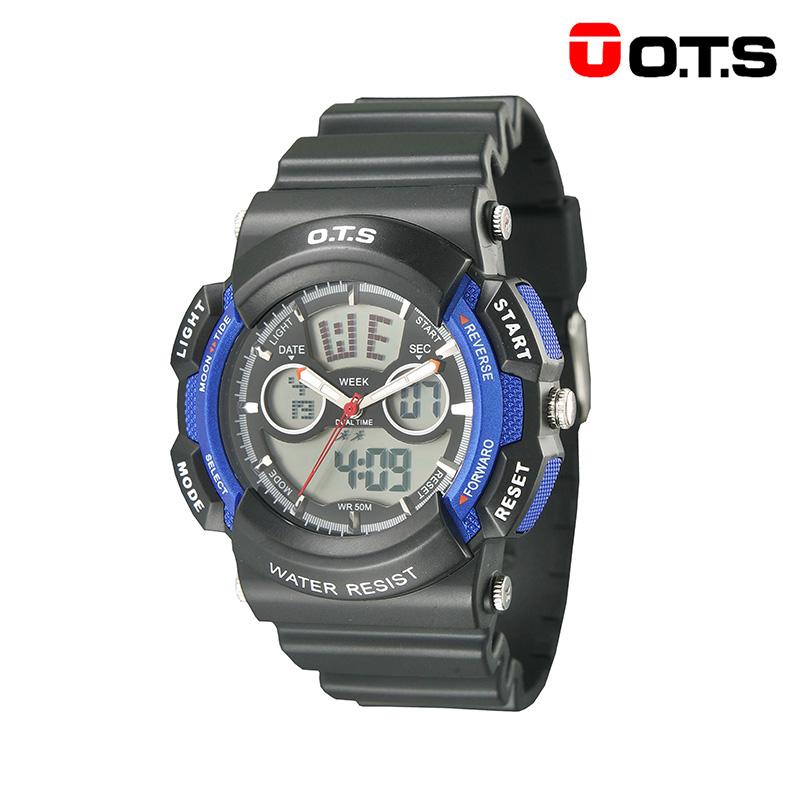 奧迪斯(O.T.S)兒童手表(小號)男孩防水夜光男童電子表潮女孩戶外運動手表8003