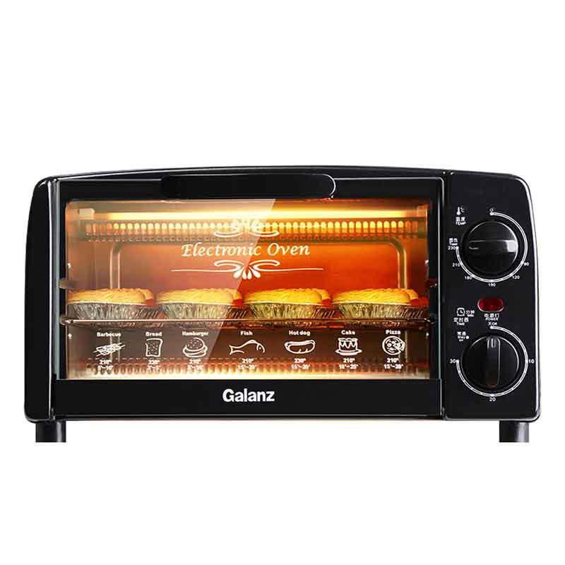 格兰仕 Galanz KWS0710J-H10N 电烤箱 家用专业多功能小烤箱 黑色10L