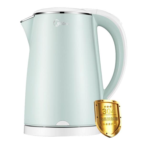 美的(Midea) 1.7L电热水壶HJ1705A双层防烫电水壶