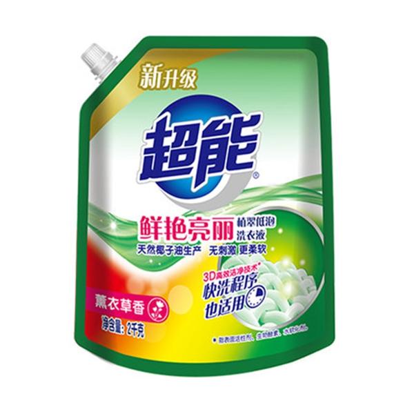 超能植翠低泡洗衣液2kg