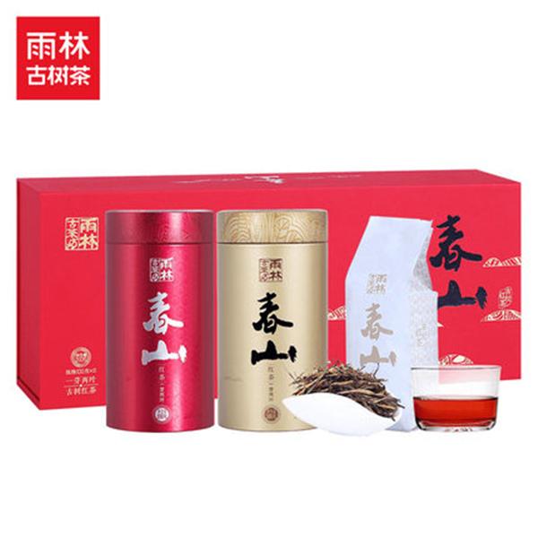 雨林古茶坊 2018春山 一芽二葉 云南古樹滇紅茶 禮盒裝200g